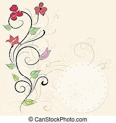 花, 型, カード