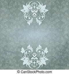 花, 型, カード, パターン