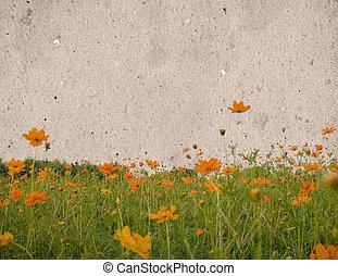花, 型, ペーパー, 背景