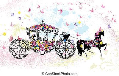 花, 型, 乗り物