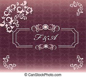 花, 型, 装飾, カード