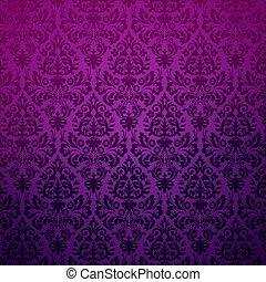 花, 型, pattern., 背景, ダマスク織