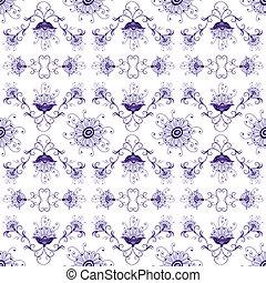 花, 型, seamless, パターン