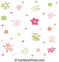 花, 壁紙, seamless, パターン