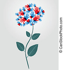 花, 多様性, 手