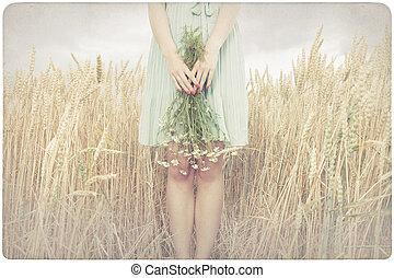 花, 女性の保有物, マーガレット
