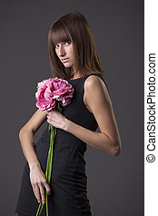 花, 女, ファッション