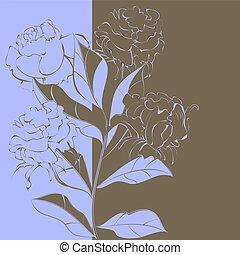 花, 対照, 背景