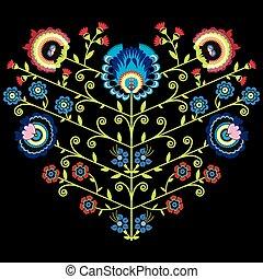 花, 心, ポーランド語, 人々, パターン