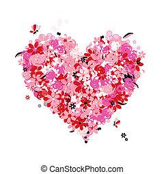 花, 心, 愛, 形