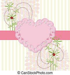 花, 愛, 春, カード