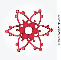 花, 抽象的なデザイン, ロゴ