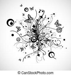 花, 抽象的なデザイン