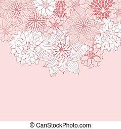 花, 抽象的なデザイン, 背景