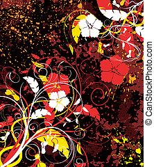 花, 抽象的, カオス