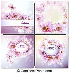 花, 抽象的, カード
