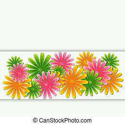 花, 抽象的, ベクトル, イラスト, 背景