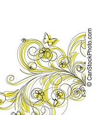花, 抽象的, ベクトル, デザイン