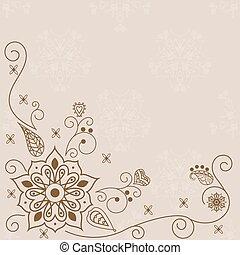 花, 抽象的, ベクトル, 要素