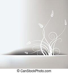 花, 抽象的, 背景