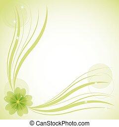 花, 抽象的, 背景, ベクトル, イラスト