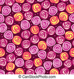 花, 抽象的, seamless, 背景