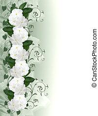 花, 招待, 結婚式, ボーダー