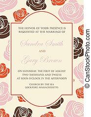 花, 招待, 結婚式, 美しい