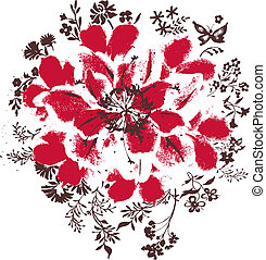 花, 插圖