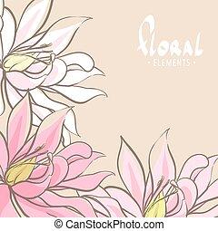 花, 明るい, 背景