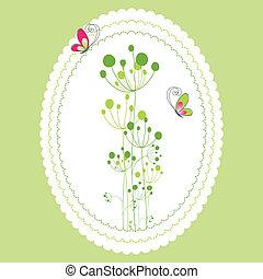 花, 春, グリーティングカード, 夏
