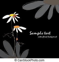 花, 春, 夏, テントウムシ