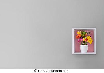 花, 春, 背景, 最小である, デザイン