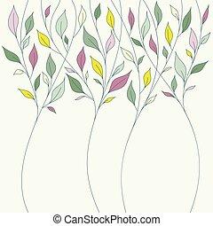 花, 春, 葉, デザイン, 新たに
