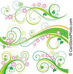 花, 春, 装飾