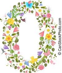 花, 春, 飛行, consisting, 華やか, 壷, hummingb