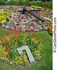 花, 時計, ジュネーブ, スイス