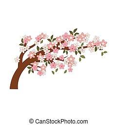 花, 木の枝