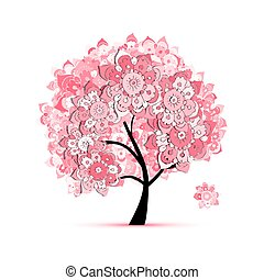 花, 木, ∥ために∥, あなたの, デザイン