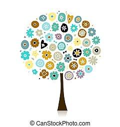 花, 木, デザイン, あなたの