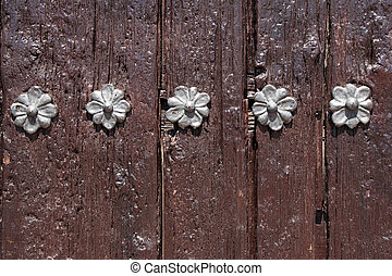 花, 木, 金属, ol