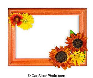 花, 框架, 3