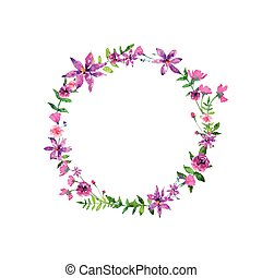 花, 水彩画, elelements, ベクトル