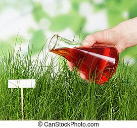 花, 液体, ベッド, 水をまかれる, ベテラン, 実験的である