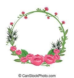 花, 玫瑰, 框架, 花冠, 花, 輪