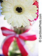 花, 由于, 粉紅的帶子