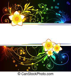 花, 白熱, 背景