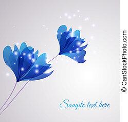 花, 矢量, 背景