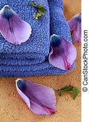 花, 紫色, ライラック, タオル