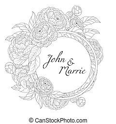花, 結婚式の招待